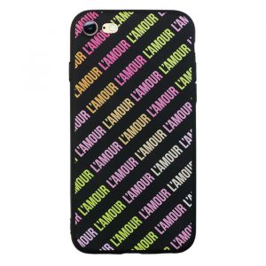 L'amour iPhone case - Black