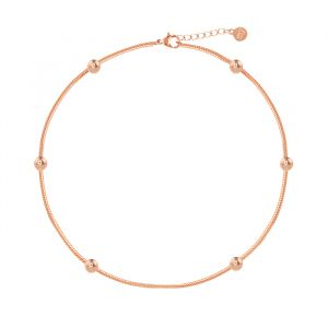 Dots Anklet-Rose goud