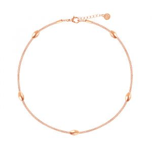 Oval Dots Anklet-Rose goud