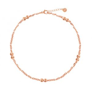 Double Dots Anklet-Rose goud