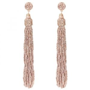Long Beads Earrings - Rose