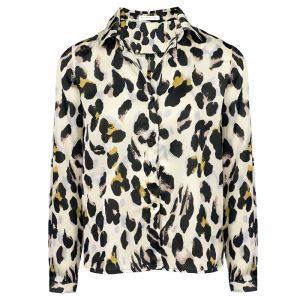 Leopard Blouse - Off White