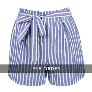 PRE-ORDER - Striped Short - Dark Blue