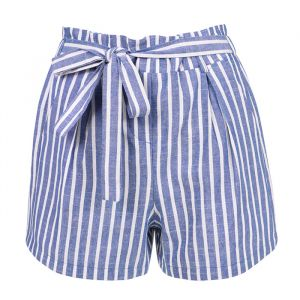 Striped Short - Dark Blue