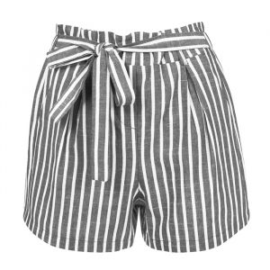 Striped Short - Dark Grey