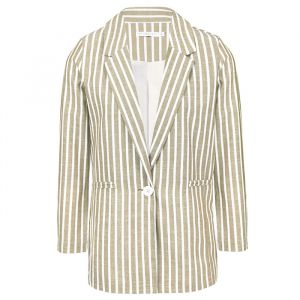 Striped Blazer - Creme