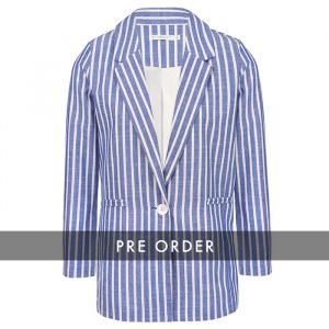 PRE-ORDER - Striped Blazer - Dark Blue