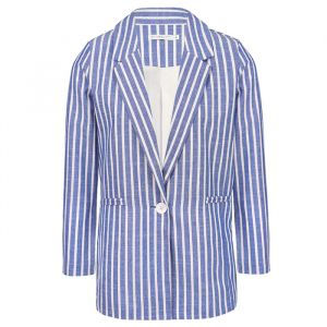 Striped Blazer - Dark Blue