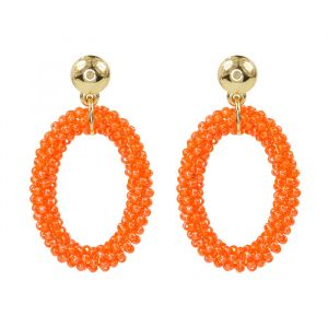 Orange Beads Earrings