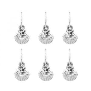 Hair Jewellery - Shell - 6 Piece set-Zilver