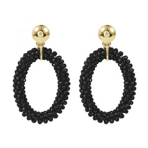 Classy Bead Earrings - Black