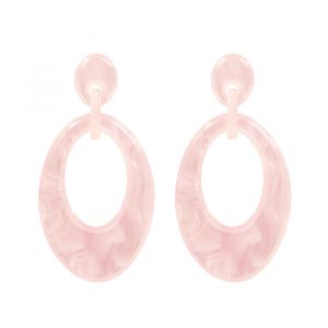 Oval Earring - Light Pink