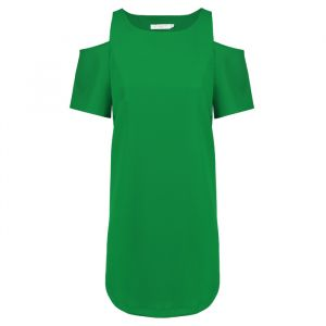 Open Shoulder Dress - Green