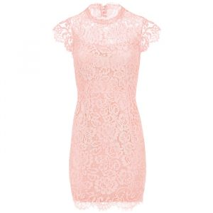 Open Back Lace Dress 2.0 - Light Pink