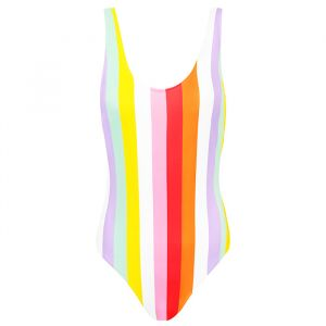 Striped Swimsuit - Lilac