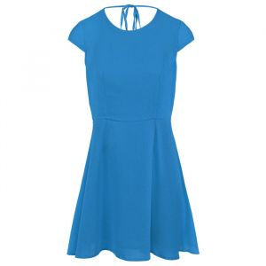 Open Back Skater Dress - Blue