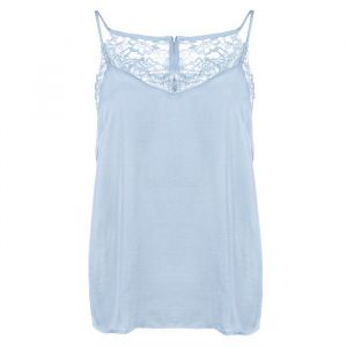 Lace Cami Top - Light Blue