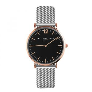 My Jewellery Medium Bicolor Watch - Black/Rose/Silver