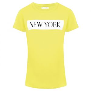 T-shirt New York Geel