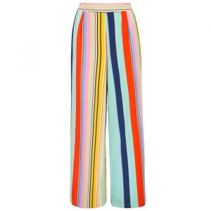 Striped Palazzo Pants - Multicolor