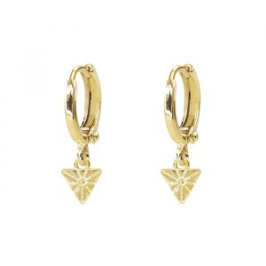 Earring Triangle – Gold/Silver-Goud