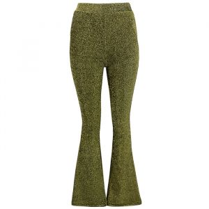 Flared Broek Glitter Goud, Flared Pants