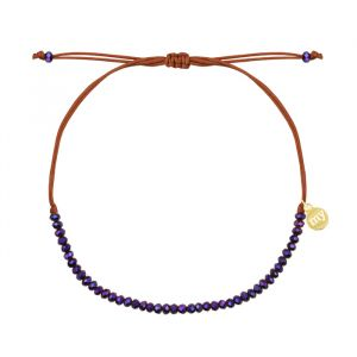 Purple Crystal Beads Bracelet