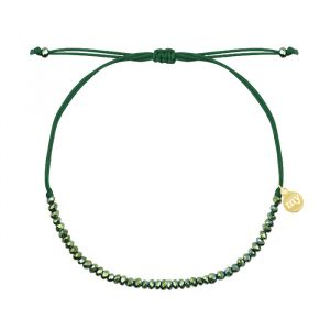 Green Crystal Beads Bracelet