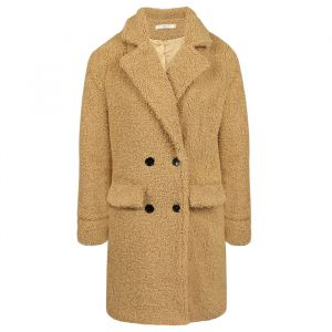 Long Teddy Coat Beige-S
