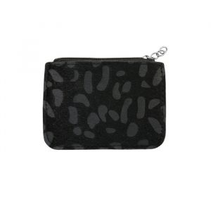 Black Small Leopard Wallet