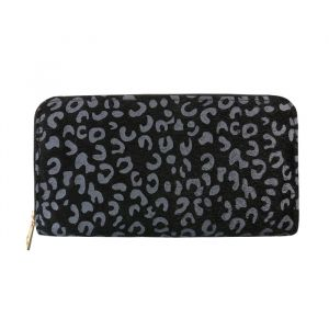 Grey Leopard Wallet
