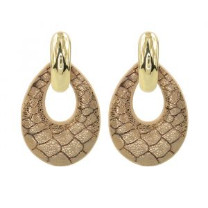 Snake Teardrop Earrings
