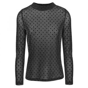 Zwarte mesh top stippen, mesh top My Jewellery