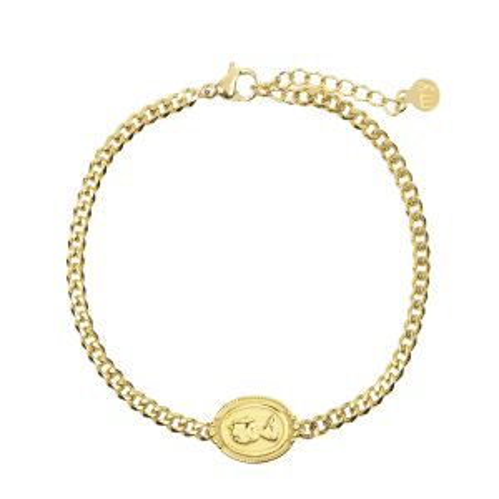 Armband bedel silhouet goud My Jewellery