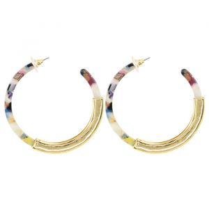 Multicolor oorringen grof My Jewellery