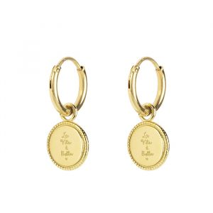 Kleine oorringen la vita e bella goud My Jewellery
