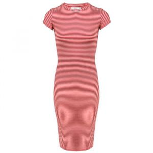 Striped Pencil Dress - grey/red