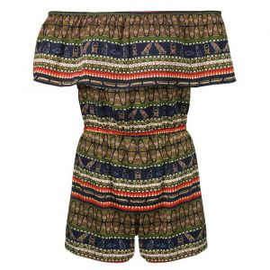 Aztec Playsuit - Blue/Green