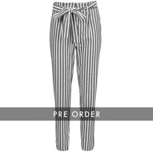 PRE-ORDER - Striped Pantalon - Dark Grey