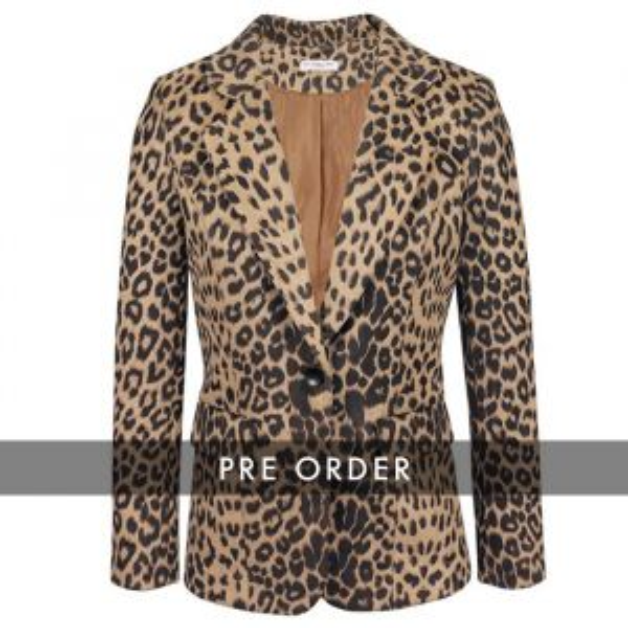 PRE ORDER - Leopard Blazer - Brown/Black
