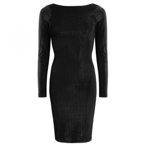 Velvet bodycon jurk zwart My Jewellery