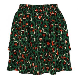 Layer Skirt Leopard - Dark Green