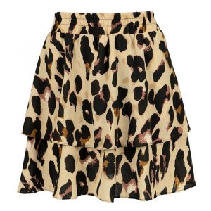 Two Layer Leopard Skirt - Brown