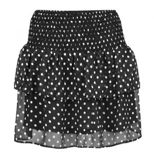 Polkadot Skirt - Black/White
