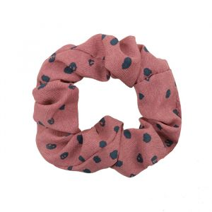 Roze scrunchie witte stippen My Jewellery