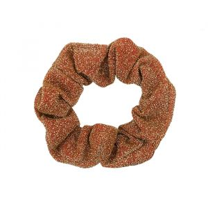 Oranje glitter scrunchie My Jewellery