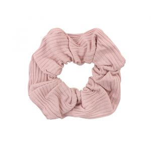 Roze scrunchie ribstof, haarelastiek My Jewellery