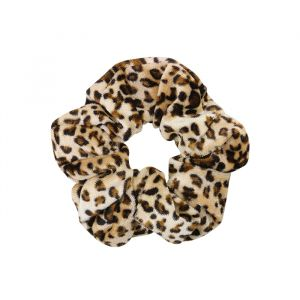 Luipaard velvet scrunchie My Jewellery
