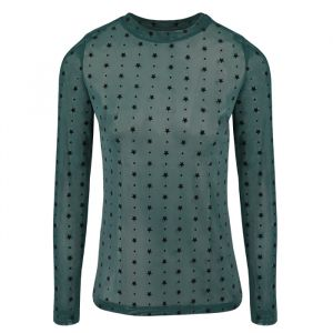 Mesh Top Stars And Dots - Green