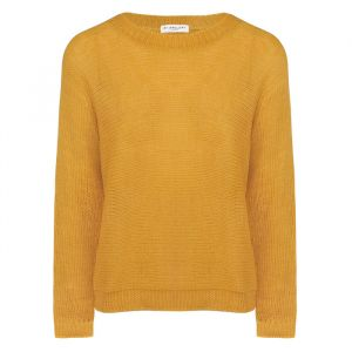 Yellow Knitted Sweater-XS